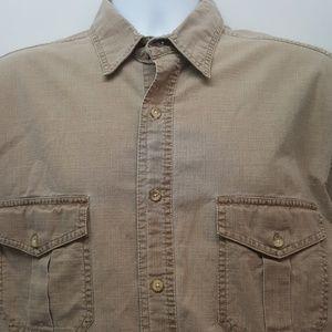St. John's Bay Casual Tall Men's Shirt L